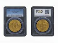 USA 20 Dollars Gold Eagle/Statue 1908, Slab PCGS MS64