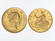 Dänemark Christian IX 1873, 20 Kroner Gold