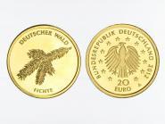 BRD 20 Euro Gold, 2012 F,  Deutscher Wald Fichte