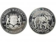 Somalia 100 Sh. Elefant  2007, 1 Unze