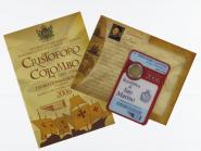 San Marino 2 Euro Münze, 2006, Kolumbus im Folder