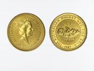 Australien 25 $ Nugget Känguru, 1/4 Unze  1987