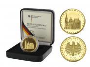 BRD 100 Euro Gold, 2012 J, Aachen, original
