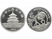 China 10 Yu Panda  1990 (Typ 2), 1 oz  Silber