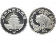 China 10 Yu Panda  1997 (Typ 2), 1 oz  Silber