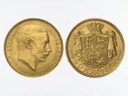 Dänemark Christian X  1916, 20 Kroner Gold