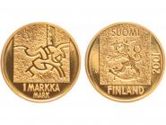 Finnland 1 Markka Gold, 2001 original