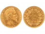 Frankreich 20 Fr. Napoleon III/ Kranz 1855 (A) Paris