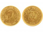 Kolumbien 100 Pesos Papst Paul VI. 1968