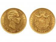 Spanien 25 Pesetas Alfonso XII. 1877