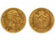 Spanien 25 Pesetas Alfonso XII. 1880