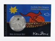 Australien 1$ Känguru 2009, 1 oz  Silber Folder