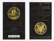 USA 10 $  Gold, Fackelläufer 1984 (W) im Folder, PP