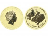 Australien 200 $ Lunar II  Hase, 2 Unzen  2011