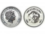 Australien 1/2$ $ Drache Lunar I  2000, 1/2 oz  Silber
