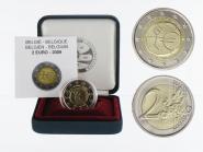 Belgien 2 € 10 Jahre Euro, 2009 PP in Originalbox