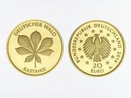 BRD 20 Euro Gold, 2014 D,  Deutscher Wald Kastanie