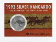 Australien 1$ Känguru 1993, 1 oz  Silber, Blister