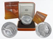 Australien 1$ Känguru 2004, 1 oz  Silber proof (B+C)