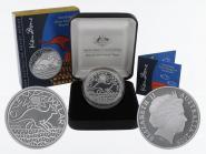 Australien 1$ Känguru 2009, 1 oz  Silber proof (B+C)