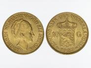Niederlande 10 Gulden Gold Königin Wilhelmina I. 1927