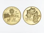 Frankreich 10 Euro Gold, 2007,  Marquis Vauban