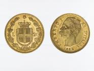Italien Umberto I. 1882, 20 Lire Gold