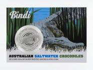 Australien 1$ Saltwater Crocodile (RAM), Bindi 2013, Blister
