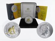 Australien 1$ Känguru 2007, 1 oz gold plated (B+C)