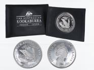 Australien 5$ Kookaburra 1991, 1 oz  Silber PP