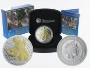 Australien 1$ Koala 2009 gildet, 1 Unze  Silber