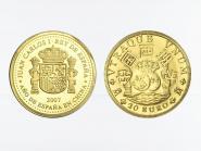 Spanien 20 Euro Gold, 2007, Spanien und China