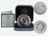 Australien 1$ Kookaburra 1997, 1oz Silber, Privy Gaudi (gold) B+C