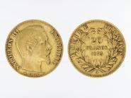 Frankreich 20 Fr. Napoleon III/ Kranz 1853 (A) Paris