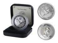 Australien 1$ Kookaburra 1996, 1oz Silber, Privy Basler Stab