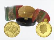 Australien 15$ Lunar II  Hase, 1/10 Unze  2011, PP