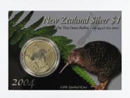 Neuseeland 1$ Kiwi 2004 Blister, 1 oz  Silber