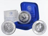 Australien 1$ Kookaburra 1996, 1oz Silber, Privy Swan River