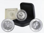 Australien 1$ Kookaburra 1996, 1oz Silber, Privy Atomium