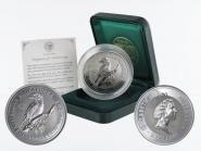 Australien 2$ Kookaburra 1995, 2 oz  Silber, Privy 40 Hour