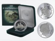 Australien 1$ Känguru 1999, 1 oz  Silber proof (B)