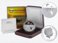 Australien 1$ Känguru 2009, Sunset F12 PP, Box + CoA