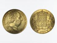 Frankreich 20 Fr. Louis XVIII 1824 (W) Lille