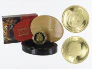 Australien 100 $ Lunar II  Tiger, 1 Unze  2010, PP (B+C)
