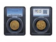 USA 10 Dollars Gold Indian Head 1910 S, Slab (PCGS AU55)