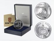 Samoa 50 $  Segelfloß Kon-Tiki 1988, 1 oz Palladium (B+C)