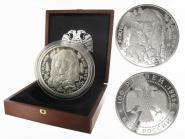 Russland 100 Rubel 1995, Braunbär PP + Box, 1kg Silber