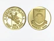 Kiribati 20 Dollar Gold, 1999, Christmas Islands