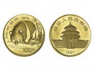 China 100 Yu  Panda 1987 (S), 1 Unze Feingold