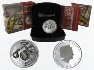 Australien 1/2$ Schlange Lunar II PP farbig 2013, 1/2 oz Silber